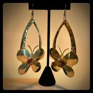 Jewelry - Brass Butterfly Earrings